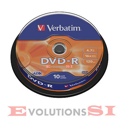 Dvd Verbatim -R 4.7Gb Tarrina 10 Unidades 16X Dvd-R Originales No 25 50 100 200+