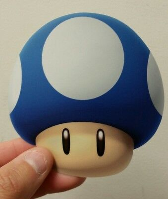 Super Mario Bros. Mushroom sticker (blue) 4 x 4. (Buy 3 stickers, GET ONE FREE!)