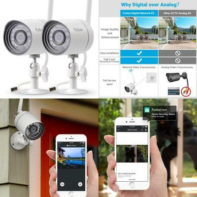 (2 Pack) Wireless Outdoor Security Camera System 720P Video Home Night Vision