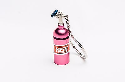 Pink NOS Bottle key chain With Container Pocket!