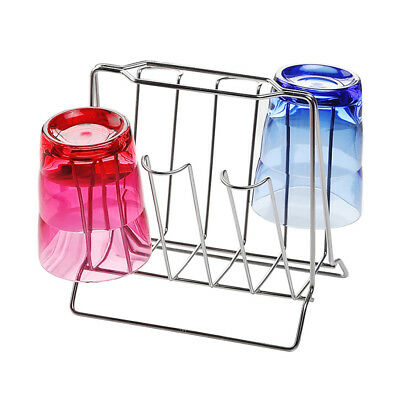 Stainless Steel Mug Stand Rack Holder Coffee Tea Cup Drying Kitchen Organizer