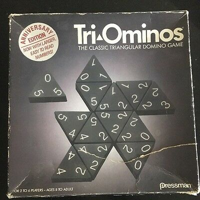 Tri-ominoes Anniversary Edition Vintage Board Game By Pressmen Complete