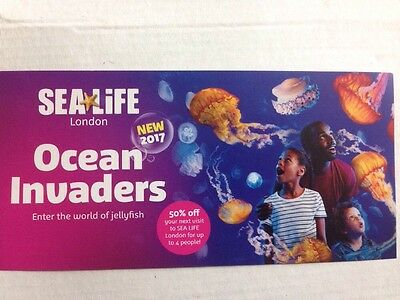 London Attraction Sea Life 50% Off Voucher, Up To 4 People Valid Until 31/12/17