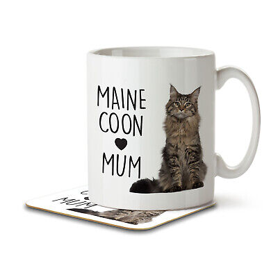 Maine Coon Mum - Mug and Coaster By Inky Penguin