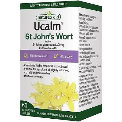 Natures Aid Ucalm 300mg (St John's Wort) - 60 Tablets