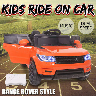Electric Kids Ride on Car Range Rover Style Dual Speed 12V Battery Remote Music