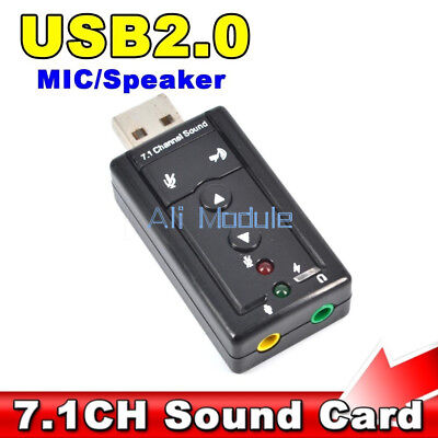 Mini USB 2.0 3D Virtual 480Mbps External 7.1 Channel Audio Sound Card Adapter
