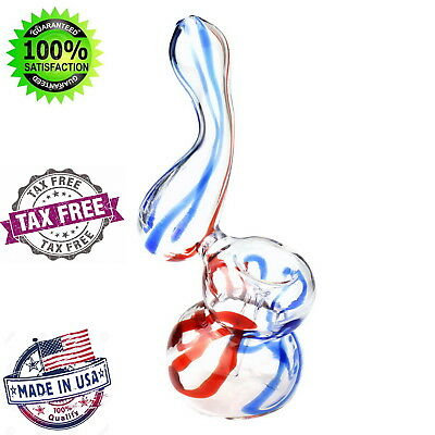 Glass Bubbler Tobacco Smoking Water Bong Abstract Pipe 5 Inch Hookah US Made New