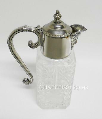 Edwardian Silver Plated BACCHUS mouth CLARET JUG of square form