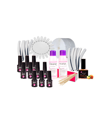 Maniküre SET 9x UV Nagellack Base Top Nageldesign Nailstudio ZUBEHÖR