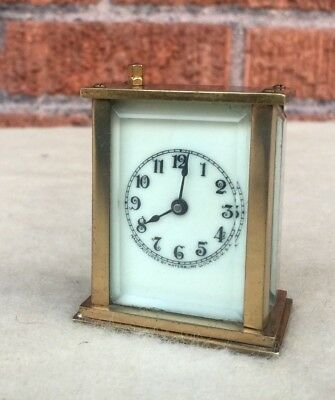 Antique WATERBURY Mini Carriage Clock *NOT RUNNING* but looks great SHIPS FAST