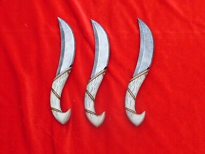 Three Foam LARP Elven Throwing Knives