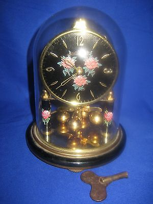 Louis Philippe Brass  Dome Clock, Under Glass Dome Germany