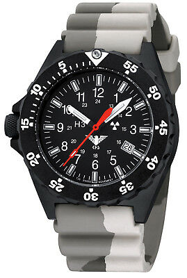 KHS Tactical Watches Black Shooter H3 Diver Band Army Camouflage Swiss Made