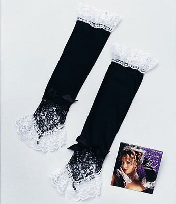 Sexy Black French Maid Gloves Ladies Fancy Hen Party Fun