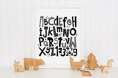 Printable Pictures Photo Nursery Wall Decor Art Home Design ABC Alphabet New