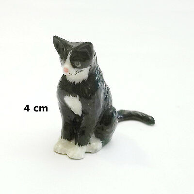 chat miniature en porcelaine,collection,animal, cat, kat, poes  *S3-6