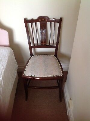 Edwardian Inlaid Mahogany Low Back Occasional Chair