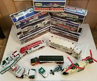 Hess Toy Truck Lot 7 New & 5 Used 1994 1998 1999 2010 2013 Helicopter Shuttle