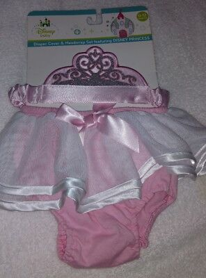 DISNEY Princess CINDERELLA Diaper Cover with HEADWRAP~0 to 12 months~NEW w/tags