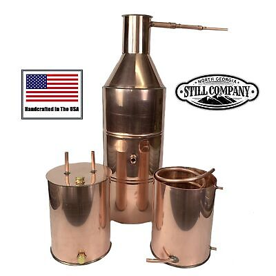 10 Gallon Copper Moonshine Still With Worm & Thumper