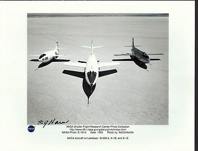 Edwards Air Force Base Autograph, Hand Signed, Bell X-1 R.j. Harer