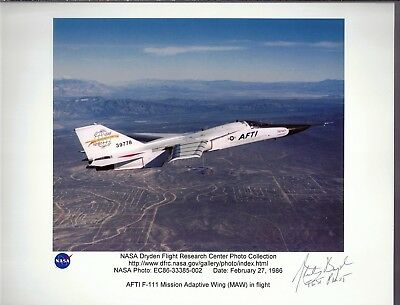 Edwards Air Force Base Autograph, Hand Signed, Stanley Boyd, Test Pilot,