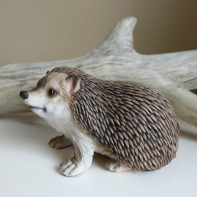 Hedgehog Sitting Figurine Resin Statue Ornament New Animal 5 in.