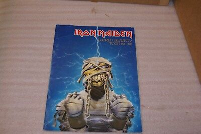 1984 1985 Iron Maiden World Slavery Tour Program Book
