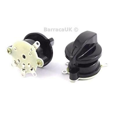 2pcs Latching Fan Control 4 Position Rotary Selector Switch AC 250V 4A