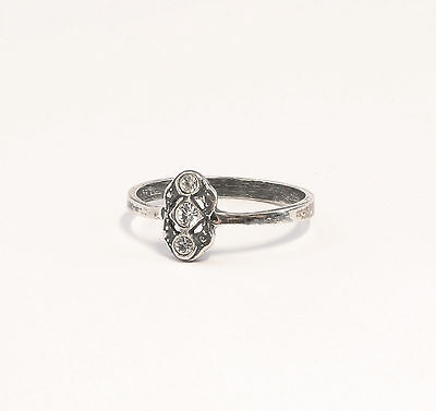 925 silver Ring with Swarovski Stones Big 53 delicate 9901372