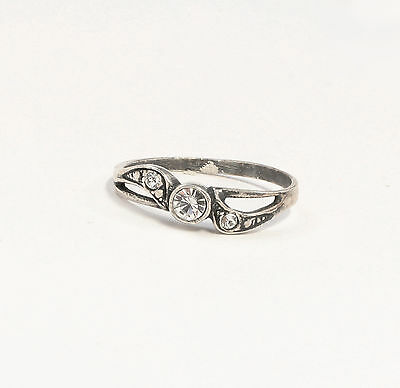 925 silver Ring with Swarovski Stones Big 51 delicate 9901382
