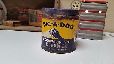 DIC-A-DOO Woodwork and Wall Cleaner RUSTY CAN Vintage Advertising 1942