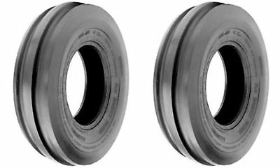 TWO (2) 4.00-8 400-8 4.00x8 Tri-Rib 3 Rib 4 ply Rated Tractor Tires