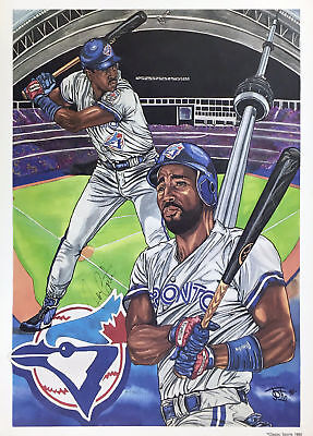Joe Carter Autographed Lithograph - Toronto Blue Jays