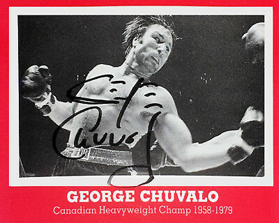 George Chuvalo Autographed Boxing Card