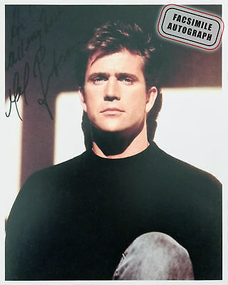 Facsimile Autographed Mel Gibson Pose - Actor