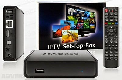Mag 250 Box Multimedia Player Internet Tv Set Top Box Iptv RM 1st Class Postage