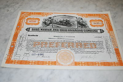Stock Certificate - GULF, MOBILE AND OHIO RAILROAD COMPANY –Mississippi 1942