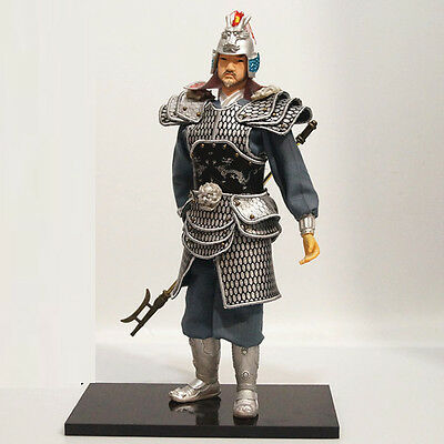 32cm Chinese Ancient Powerful Military Officer War Commander PU leather cloth-5