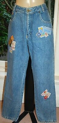 EASTCOAST Vintage 80s Jeans with Badges - Size 16 - EUC