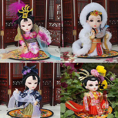 4Pcs 5'' Peking Opera Mini Q Version l Historical The Great Four Beauties