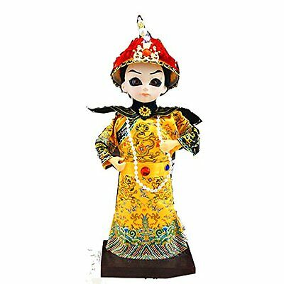 9''/22cm Handmade Mini Vintage Chinese Asian Doll Emperor of Qin Dynasty