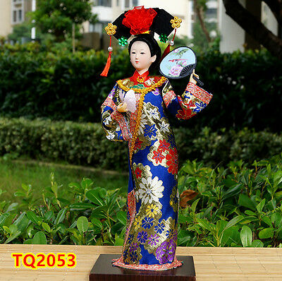"12"" Ancient Chinese Doll Qing Dynasty Princess Lady Dollhouse HANDMADE -TQ2053"