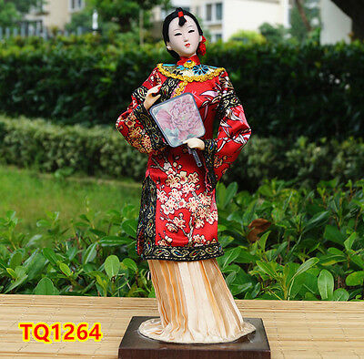 "12"" Vintage Chinese Beauty Doll Figurine Qing Dynasty Princess Dollhouse -TQ1264"