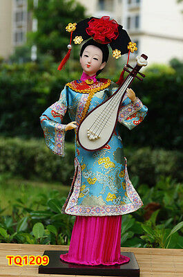 "12"" Vintage Chinese Beauty Doll Qing Dynasty Princess Collectible Artwork-TQ1209"