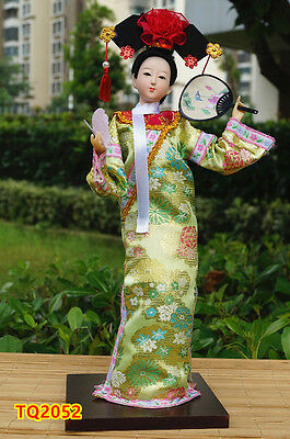 "12"" Ancient Asian Chinese Beauty Lady Qing Dynasty Princess Tourist Gift-TQ2052"