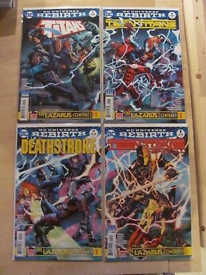Lazarus Contract Parts 1 2 3 4 Complete Series Teen Titans Deathstroke 9.6 NM+