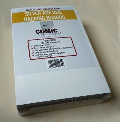 100 x Silver Age/Size Comic Concept Backing Boards - Cheapest on eBay!