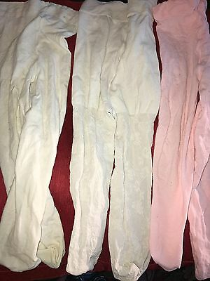lot of 3 stockings for baby girls:  6-12m